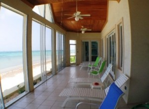 enclosed outdoor verandah