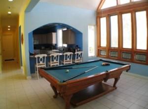 billiard games room